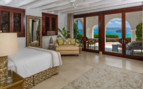 Large suite bedroom at Cap Juluca, luxury hotel in Anguilla