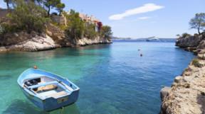Boat in a Bay in Mallorca