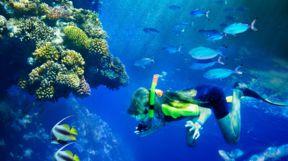Snorkelling Children, Maldives