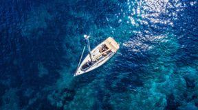 Boat sailing off the Dalmatian Coast