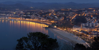 Evening View of San Sebastian