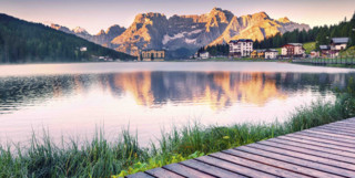 Dolomites with lake