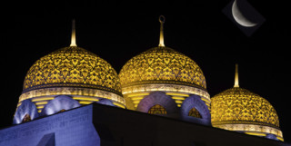 A Muscat Mosque at Night