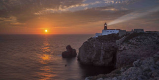 Sunset over Lighthouse