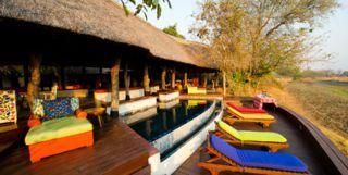 Main Pool Area at Thorntree River Lodge, Zambia