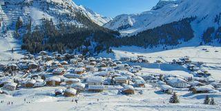 View of Lech Village, Austria