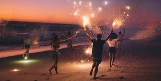 new years eve on a beach