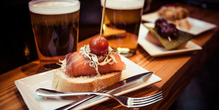 Pintxo and beer