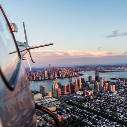Helicopter tour of New York