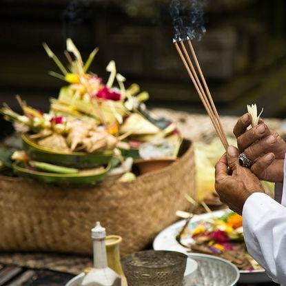 Bali blessing ceremony