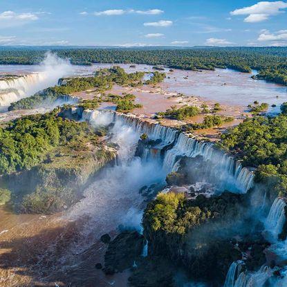 Iguacu Falls aerial