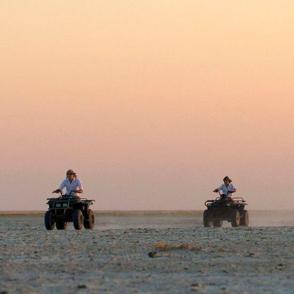 Quad biking in Botswana