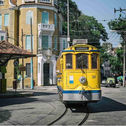 Santa Teresa yellow tram