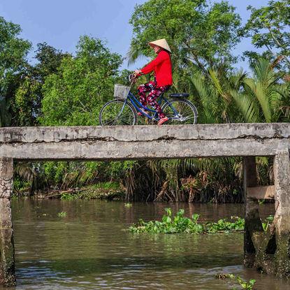 Riding Bike in Mekong