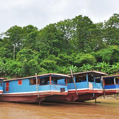 Houseboats in Mekong