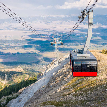 Aerial Tram on the Rendezvous Mountain