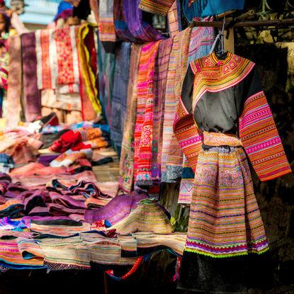 Traditional Clothing at the Bac Ha Market