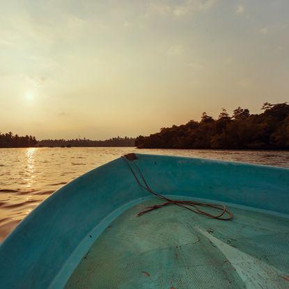 Boat on Lake Koggala