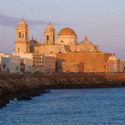 Cadiz Cathedral during Sunset