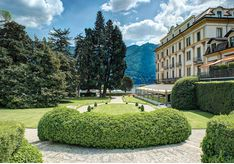 Garden at Villa D'Este, luxury hotel in Italy