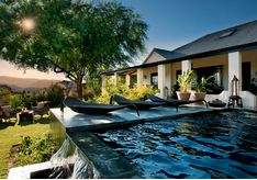 The pool at Bushmans Kloof, luxury hotel in South Africa