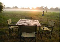 Outdoor dining at Leopard Safaris Wilpattu Camp, luxury camp in Sri Lanka