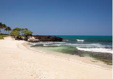 The beach at Four Seasons Resort Hualalai, luxury hotel in Hawaii