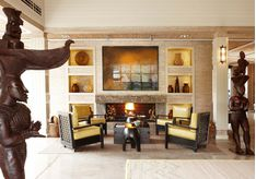 Reception lounge at Delaire Graff Estate, luxury hotel in South Africa