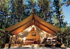 Paws Up tent exterior