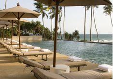 The pool at Amanwella, luxury hotel in Sri Lanka