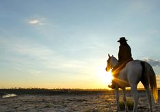 Horseback riding at Camp Kalahari, luxury camp in Botswana, Africa