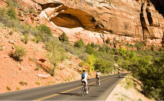 Biking in Zion
