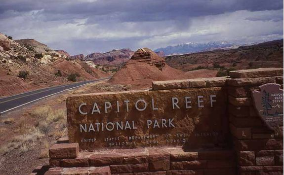 Capitol Reef sign