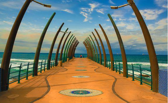 Whale pier in Durban
