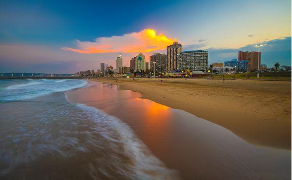 Sunset on Durban Beach