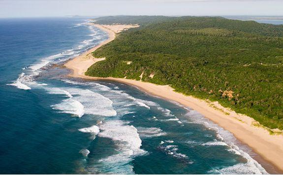Thonga Beach Lodge aerial view
