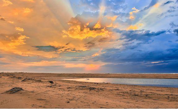 Beach sunset, KwaZulu-Natal