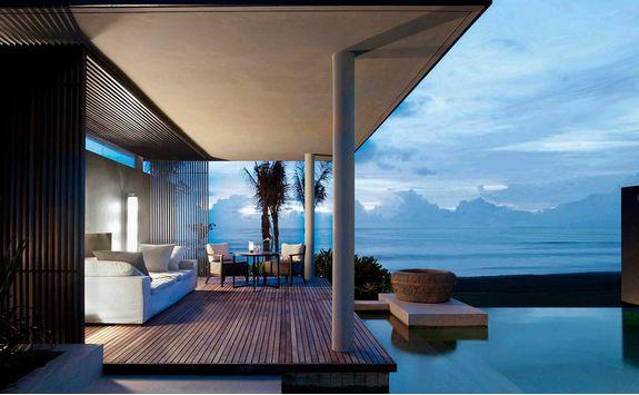 Pool villa at soori