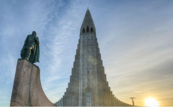 Statue in Reykjavik, Iceland