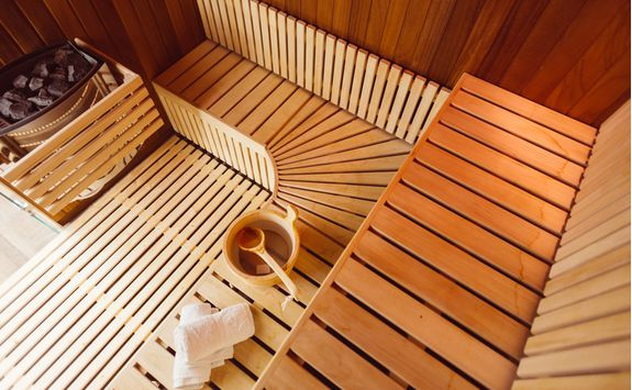 Warm up in a Swedish sauna