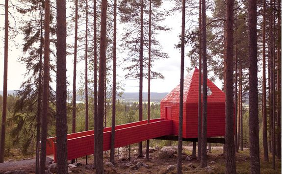 The Blue Cone at the Treehotel