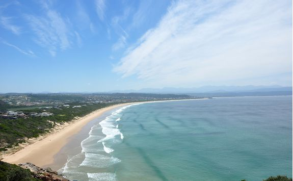 Plettenberg Bay beach view from above