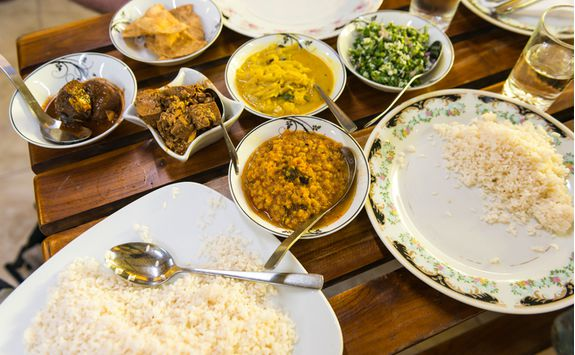 Curry dishes, Sri Lanka