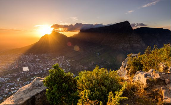 Sunset views of Table Mountain