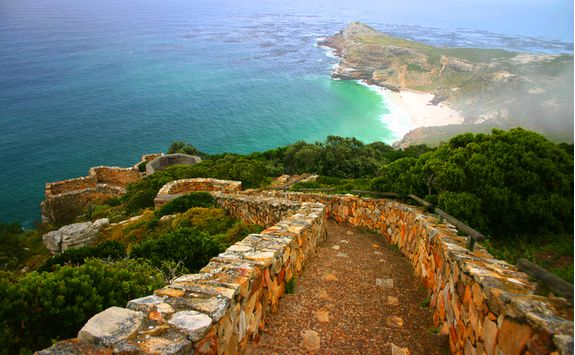 Walking up Cape Point