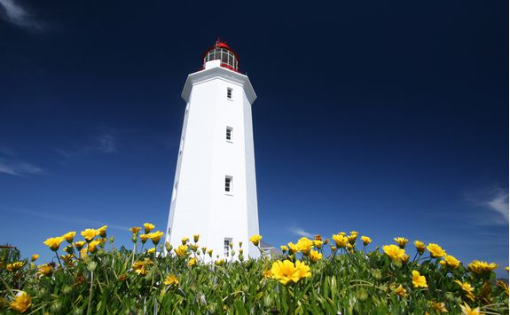 A lighthouse in Hermanus
