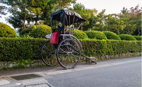 Bicycle rickshaw in Yufuin
