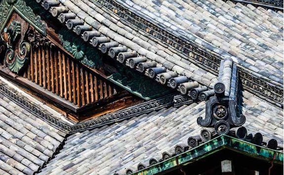 Detail of Sensoji Temple in Tokyo