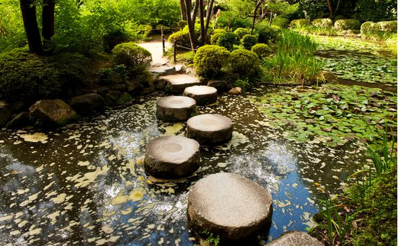 Stepping stones at Heian Shrine