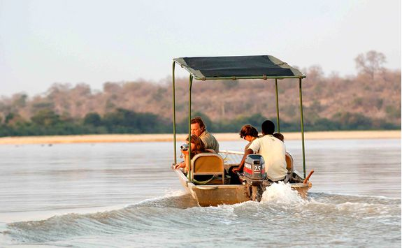 Boat trip in the Selous